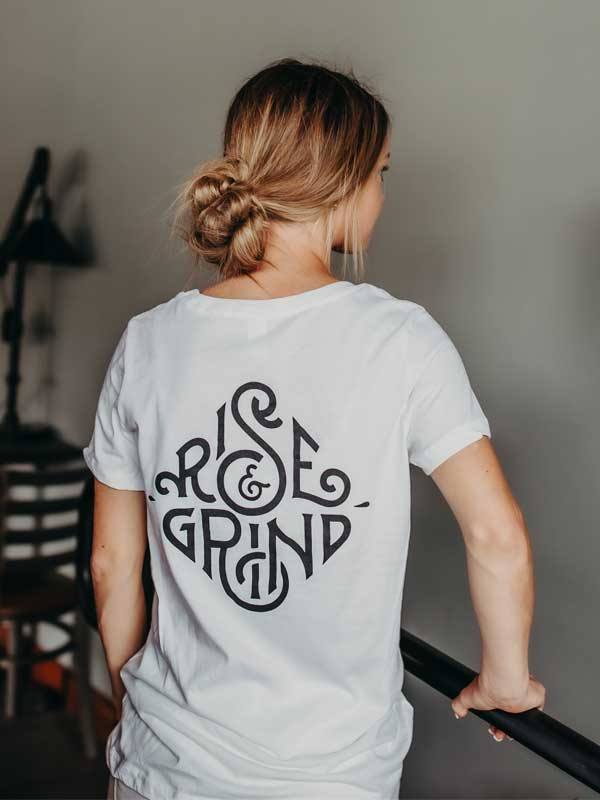 Women's Rise & Grind Tee Back
