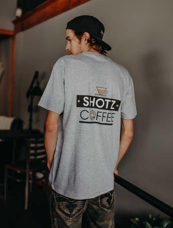 Boys / Men's Grey T-Shirt Back