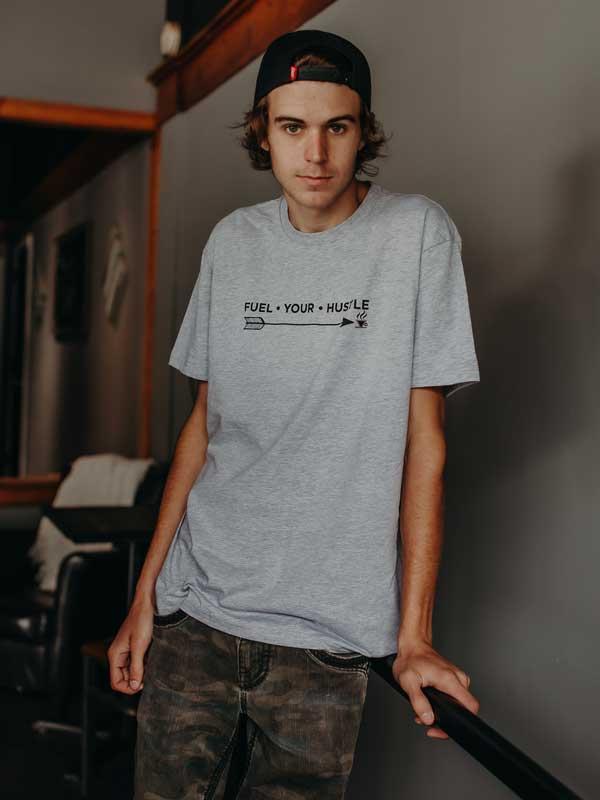 Boys / Men's Grey T-Shirt Front
