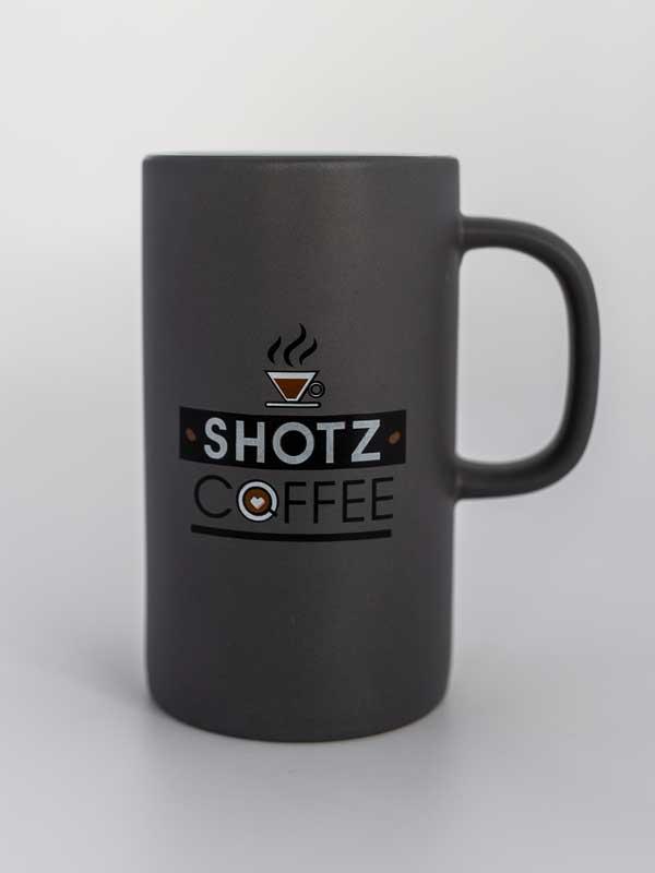 12 Oz Ceramic Coffee Mug Grey