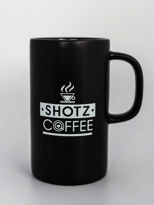 12 Oz Ceramic Coffee Mug Black