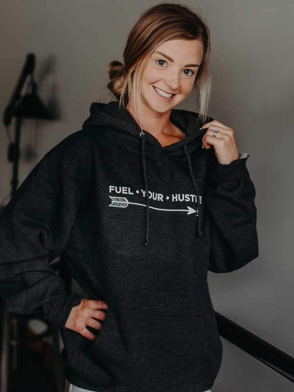Pull Over Hoodie Front- Unisex Black