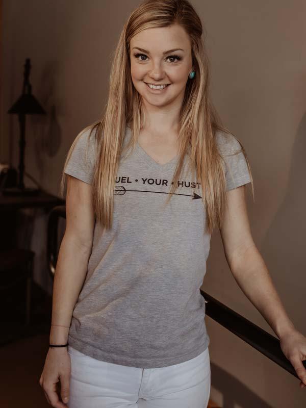 V-Neck T-Shirt Front Grey