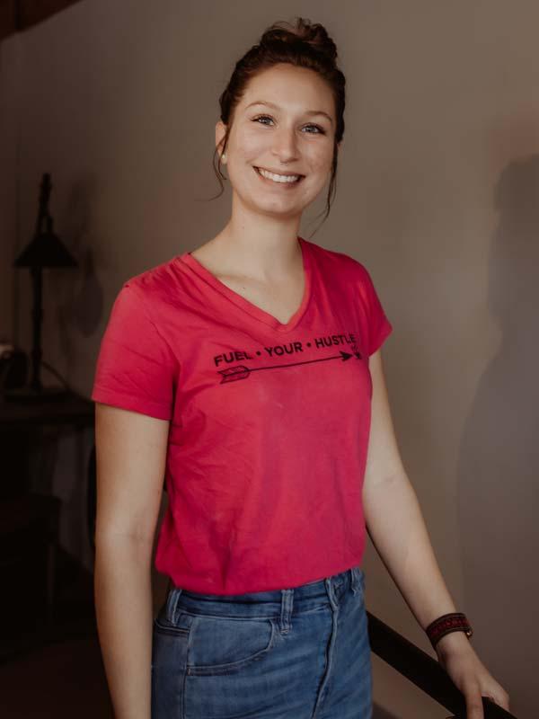 V-Neck T-Shirt Front Pink